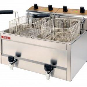 Friteuza profesionala Snack-Bar electrica dubla, 6+6 litri