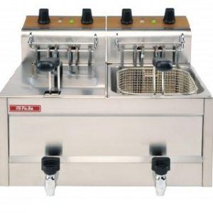 Friteuza profesionala Snack-Bar electrica dubla, 8+8 litri