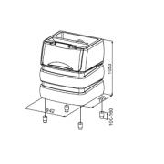Container stocare gheata, 190 kg