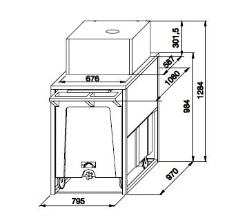 Container stocare gheata, 108 + 17kg