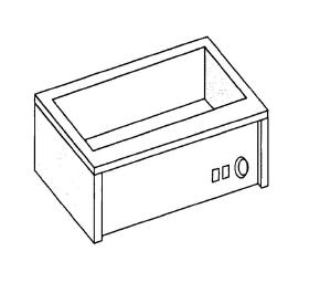 Bain-marie electric, GN 1/1 h15 cm