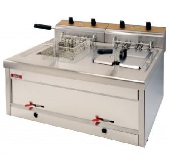 Friteuza profesionala Snack-Bar electrica dubla, 12+12 litri